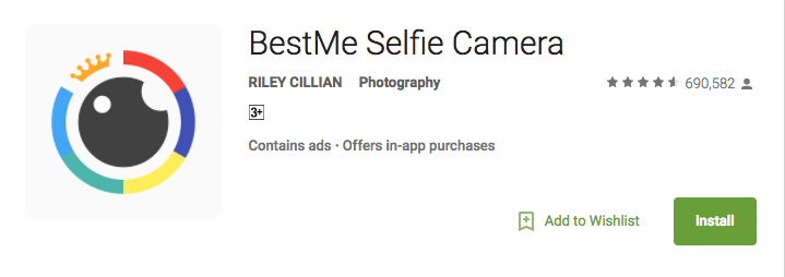 best selfie camera app for android