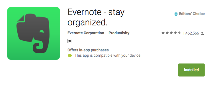 Evernote Stay organized Best Productivity apps for Android