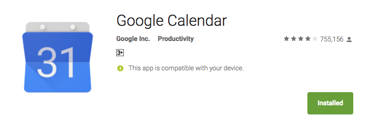 Google Callender 10 best android apps for productivity